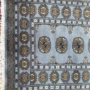 Blue/Grey Bokhara Carpet 119 x 81 CM
